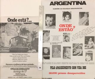 "Two Brazilian posters in solidarity with Argentina's ""disappeared"""