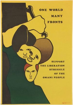 One World, Many Fronts. Support the Liberation Struggle of the Omani People [poster