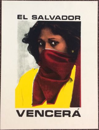 El Salvador Vencerá [screenprint poster