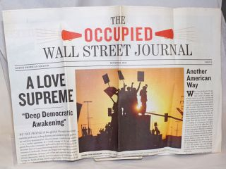 The -Occupied- Wall Street Journal. November 2011, Issue 5. North American Edition. Jed Brandt,...
