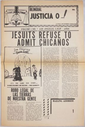 Justicia O...! voice of the National La raza Law Students Association vol. 1, #7: Jesuits Refuse...