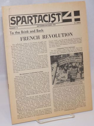 Spartacist. Number 12 (September-October 1968). Spartacist League