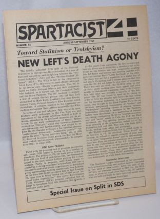 Spartacist. Number 13 (August-September 1969). Spartacist League