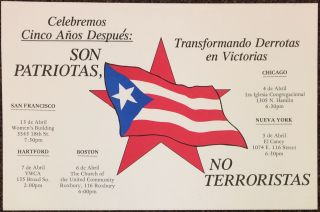 Celebremos cinco años despues: Son Patriotas, no Terroristas [poster