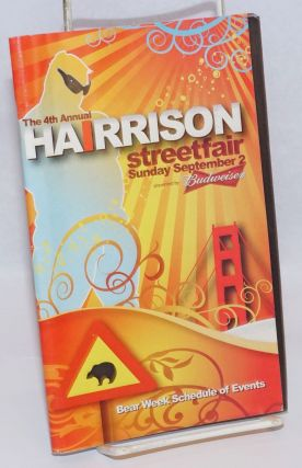 The 4th Annual Harrison Streetfair Program; Bear Week Schedule of events, Sunday September 2