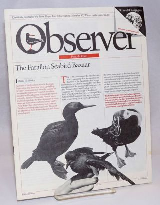 Observer: Quarterly Journal of the Point Reyes Bird Observatory; Number 87, Winter 1989-1990....