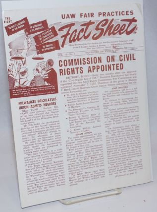UAW Fair Practices Fact Sheet: Official Bulletin of the Fair Practices and Anti-Discrimination...