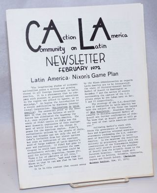 CALA Newsletter. February 1972