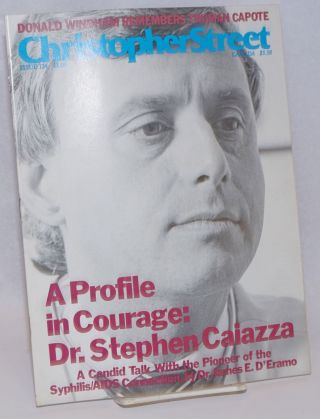 Christopher Street: vol. 11, #4, whole issue #124, June 1988; Dr. Stephen Caiazza. Charels L....
