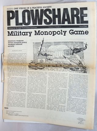 Plowshare Press; Volume 11 Number 1, Winter 1986