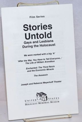 Film Series: Stories Untold; Gays and lesbians during the holocaust
