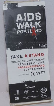 AIDS Walk Portland: take a stand [brochure] Sunday, October 12, 2003