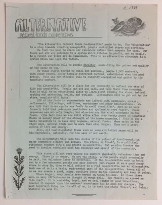 Alternative Natural Foods Cooperative [handbill