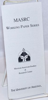 MASRC Working Paper Series [brochure