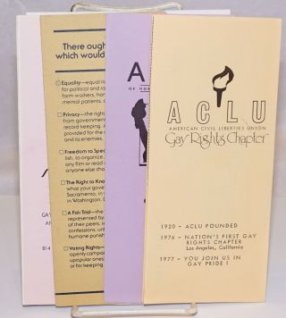 ACLU of Northern California Gay Rights Chapter [brochures