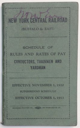 New York Central Railroad Company (Buffalo & East): Schedule of rules and rates of pay,...