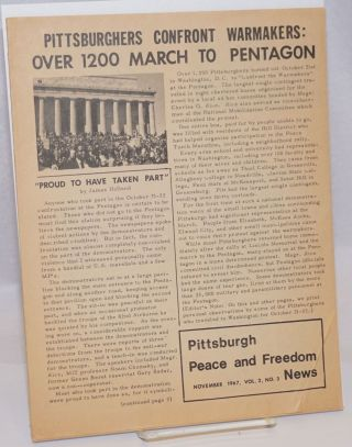 Pittsburgh Peace and Freedom News. Vol. 2 no. 3 (November 1967