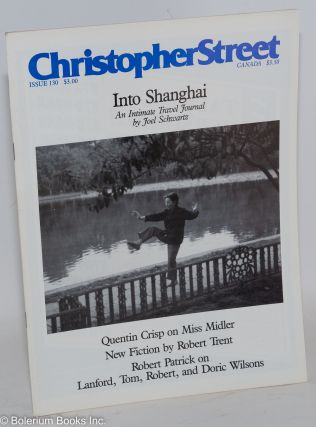 Christopher Street: vol. 11, #10, whole issue #130, December 1988; Into Shanghai. Charels L....