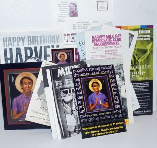 Packet of Harvey Milk ephemera [16 items]. Harvey Milk