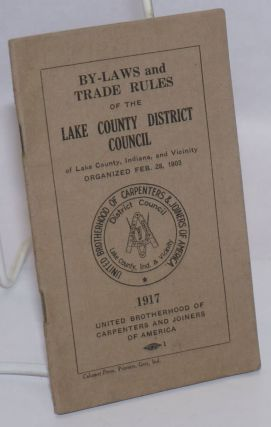 By-laws and Trade Rules. Lake County District Council