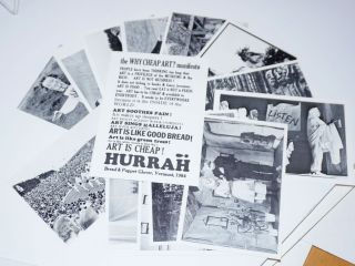 [Fourteen postacrd-style printed photos of Bread and Puppet Theater]