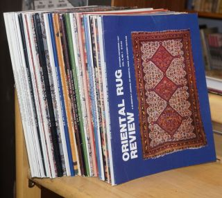 Oriental Rug Review: a bi-monthly journal of oriental rugs and other textiles [34 issues]. Ron...