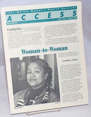 Lyon-Martin Women's Health Sevices Access Newsletter: vol. 1, #1, Spring 1992; Woman-to-Woman
