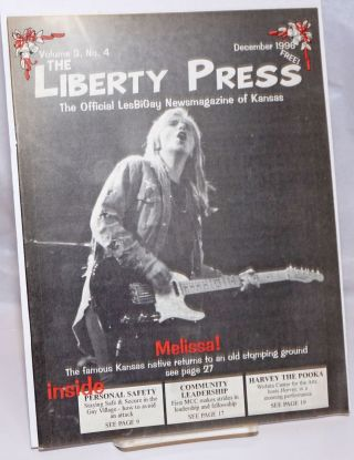 The Liberty Press: the official LesBiGay newsmagazine of Kansas vol. 3, #4, December 1996;...
