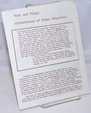 Work and study: cornerstone of Cuban education