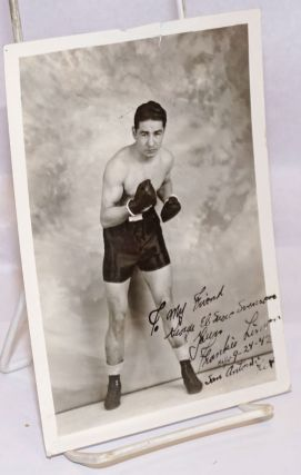 Publicity photo of boxer Frankie Limon [personal inscription signed and dated]. Frankie Limon