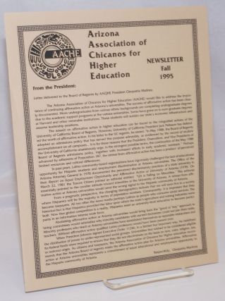 Arizona Association of Chicanos for Higher Education: Newsletter, Fall 1995. A A. C. H. E