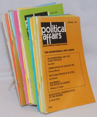 Political affairs: theoretical journal of the Communist Party, USA. Vol. 55, no. 1, January, 1976...
