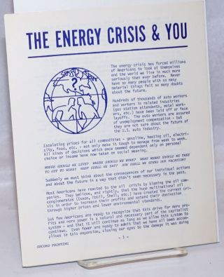 The energy crisis and you