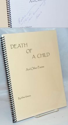 Death of a Child and other poems [signed]. Vilma Vitanza
