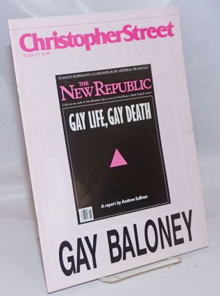Christopher Street: vol. 13, #11, January 1991, whole #155; Gay Baloney. Charles L. Ortleb, Bob...