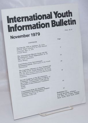 International Youth Information Bulletin; November 1979. Young Socialist Alliance