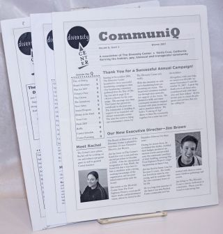 CommuniQ: a newsletter of The Diversity Center; vol. 6, issues 1-3, Winter, Spring & September...
