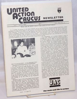 United Action Caucus Newsletter. Vol. 8 no. 1 (Fall-Spring 1980