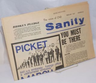 Sanity: The Voice of CND; February 1967. Campaign for Nuclear Disarmament