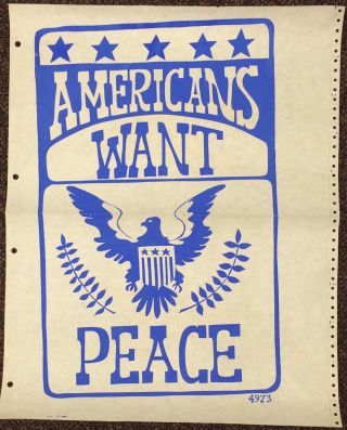Americans want peace [poster