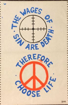 The wages of sin are death / Therefore choose life [poster