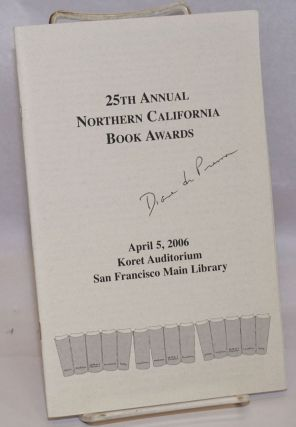 25th annual Northern California Book Awards [program booklet signed by Diane di Prima