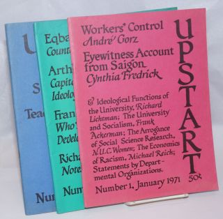 Upstart [3 issues]. Frank Ackerman, staff