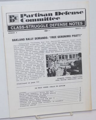 Class-Struggle Defense Notes; Number 4, March 1987. Partisan Defense Committee