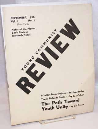 Young Communist Review, vol. 1 no. 1 (September 1936