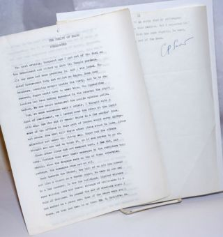 The Purity of Being Persecuted [signed typewritten manuscript]. C. P. Snow