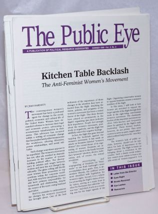 The Public Eye: A Publication of Political Research Associates [19 issues]