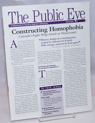 The Public Eye: A Publication of Political Research Associates; March 1993. Jean Hardisty,...