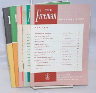 The Freeman: A Monthly Journal of Ideas on Liberty [five issues
