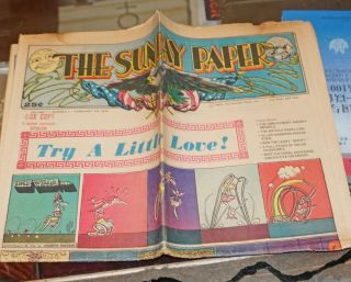 The Sunday Paper, Vol. 1, Nos. 1-6. Feb.-Mar. 1972 [six issues]